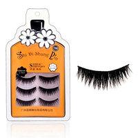 Baomabao 3 Pairs Soft Long Makeup Cross Thick False Eyelashes SHI DI SHANG PIN T06