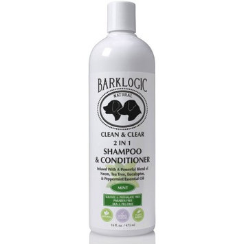 BarkLogic Clean & Clear 2 In 1 Shampoo & Conditioner, Mint, 16 Oz