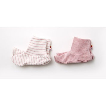 Agabang giggle Organic Cotton Baby Booties - Heathered Pink 2-Pack