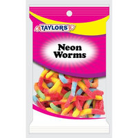 TAYLORS CANDY GUMMI NEON WORMS Snack Size
