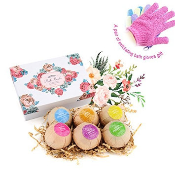 Bath Bombs Gift Set, Bath Bomb Kit, Lush Spa Floating Fizzies, Best Gift for Kids, Women, Must-have Bath Products, Best Family Lover Home Spa Idea, Pack of 6