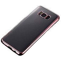 TOOPOOT Clear TPU Plating Case For Cover Galaxy S8 Plus 6.2 inch (rose g