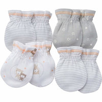 born Baby Boy or Girl Unisex Assorted Mittens, 4-Pack
