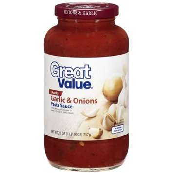 Great Value: Chunky Garlic & Onions Pasta Sauce, 26 oz