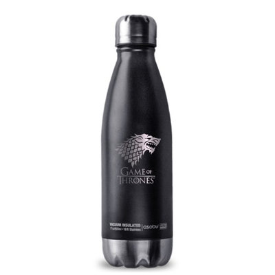 Game of Thrones 190443001792 Stark Stainless Steel Curved Travel Bottle