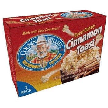 Cousin Willie's Microwave Popcorn Sweet Buttery Cinnamon Toast Kettle Corn - 3 CT