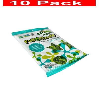 GimMe - Wrap n' Roll Organic Roasted Seaweed Full Sheets Sea Salt - 7 Sheet(s)