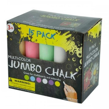 Bulk Buys KL18749 Multi-Color Jumbo Chalk Set
