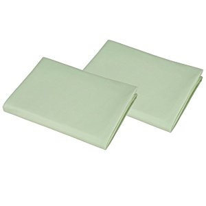 American Baby Company Value Jersey Knit Porta-Crib Sheet, 2 Pack - Celery