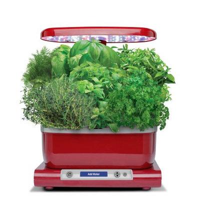 AeroGarden Harvest, Red with Gourmet Herbs