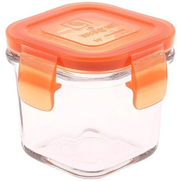 Wean Green Glass Baby Food Storage Containers, Wean Cube 4 ounces, Carrot