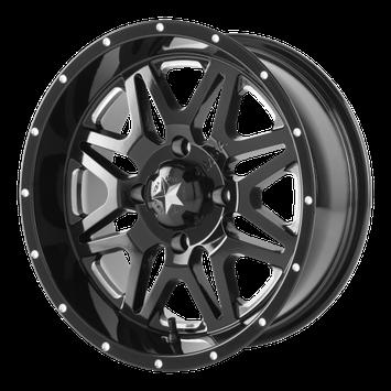 MSA M26 Vibe ATV Wheel - Milled/Black [16x7] +0mm, 4/137 [M26-06737M]
