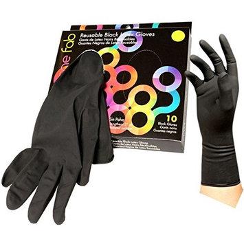 Foil It Color Me Fab Size 6.5 Reusable Latex Gloves - 10 ct