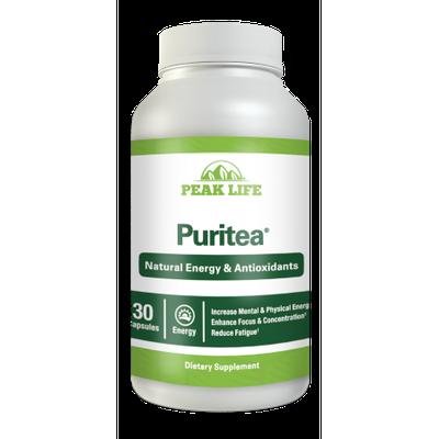 Nutraclick Peak Life Puritea, Tea Blend for Natural Energy & Antioxidants, 30 Count