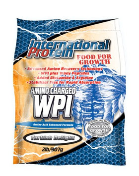 International Protein Amino Charged WPI Powder, Turkish Delight, 2 Lb