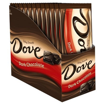 Mars Snackfood DOVE Dark Chocolate Sharing Size Candy Bars Box, 3.30 oz 12 Pack