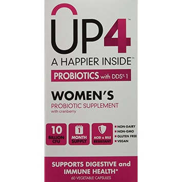 UP4 Probiotic Supplement for Women - Whole Cranberry – Digestive and Immune Support - 10 Billion CFU – Non-GMO, Gluten Free, Vegan - 60 Capsules