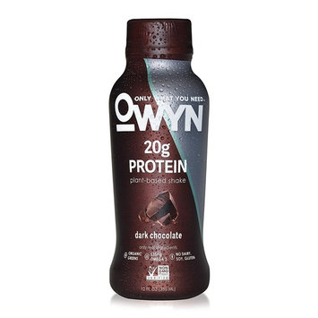 OWYN, Vegan Protein Shake, Dark Chocolate,12 Fl Oz (Pack of 12), 100-Percent Plant-Based, Dairy-Free, Gluten-Free, Soy-Free, Tree Nut-Free, Egg-Free, Allergy-Free, Vegetarian, Kosher