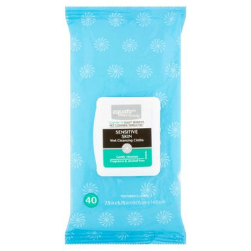Equate Beauty Sensitive Skin Wet Cleansing Cloths, 40 sheets