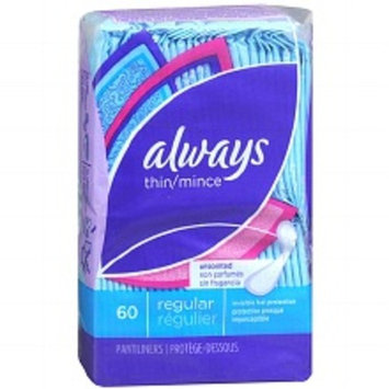 Always Thin Active Dailies Wrapped Liners, Regular Fresh Scent