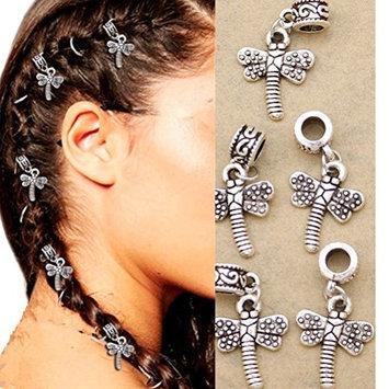 cuhair 10 pieces buttterfly Dreadlocks bead design for women girl hair clip hair barrette hairpin hair accessories
