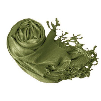Peach Couture Soft and Silky Bamboo Rayon Luxurious Eco-Friendly Shawl (Sage)