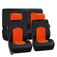 Complete Orange Front Back Seat Covers for Car Truck SUV
