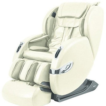 Titan TP-Lucas D L-Track Massage Chair with Zero Gravity, Beige, Foot Rollers, Computer Body Scan, Air Massage, 7 Auto Massage Programs, Bluetooth Connection for...