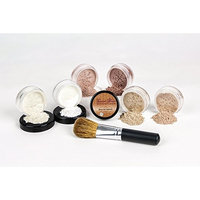 Mineral Makeup XXL KIT w/ FLAWLESS FACE BRUSH Full Size Set Sheer Bare Skin Powder Cover (Pink Bisque)