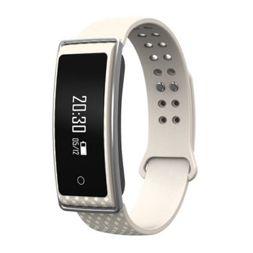 TechComm Y36+ Fitness Activity Tracker with Heart Rate Monitor, Bluetooth, Call and Text Notifications, Pedometer, Wake Up Gesture, Sleep Monitor and Remote Camera - White