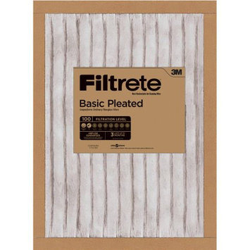 Nexcare Filtrete Basic Pleated Air and Furnace Filter, Available in Multiple Sizes