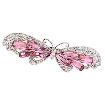 HEART SPEAKER Shiny Women Girl Hairpin Hair Claw Clamp Clip Butterfly Hairband Decor Headwear