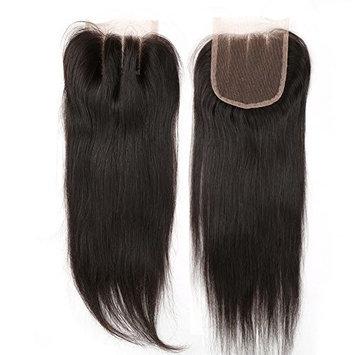 Sent Hair Lace Closure 3 Part Straight Brazilian Virgin Human Hair Closure 4x4 Natural Black Hair Color 8 inch []