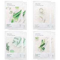 Innisfree Best 4 Type Combo Mask Pack of 8 (Cucumber, Tea Tree, Aloe, Rice)
