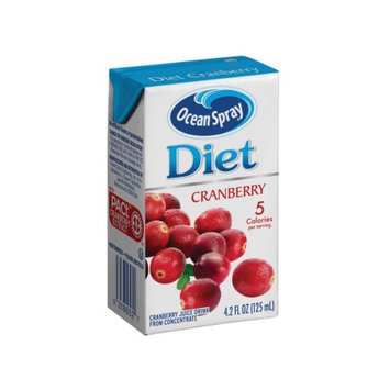 Ocean Spray Diet Juice Drink, Cranberry, 4.23 Fl Oz, 40 Count