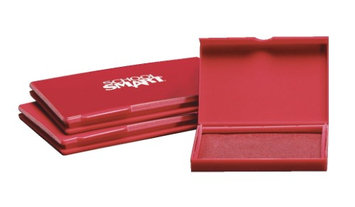 School Smart Pre-Inked Stamp Pad - Size 1, Red
