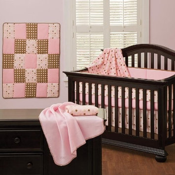 Cotton Candy Pink 7 Piece Baby Crib Bedding Set