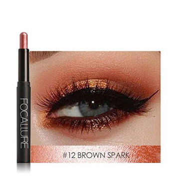 Makeupstore eye shadow pencils,12 bright Colors Beauty Pro Highlighter Eyeshadow, eyeliner Pencil Cosmetic Glitter Eye Shadow Pen,Clearance Promotion