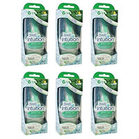 Wilkinson by Schick Intuition Sensitive Care Razor with 1 Refill Cartridge and Shower Hanger (6 Pack) + FREE FREE Schick Slim Twin ST for Sensitive Skin