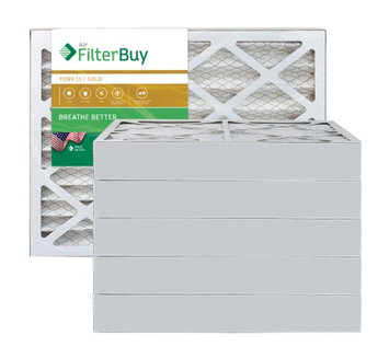 AFB Gold MERV 11 18x20x4 Pleated AC Furnace Air Filter. Filters. 100% produced in the USA. (Pack of 6)