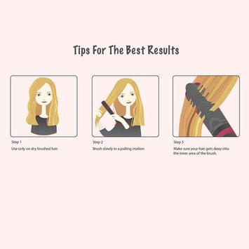 AsaVea Hair Straightening Brush 2, Anti-scald Patented Design, PTC Heating Technology,30 mins auto shut off, Great Styler at Home!, White/Black