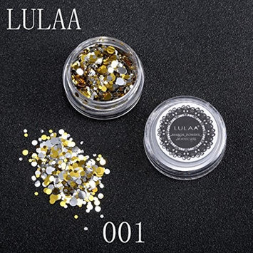 DZT1968 1Box/1.5g Shiny Round Sequins Multicolor Plastic Nail Art Glitter Tips UV Gel 3D Nail Decoration