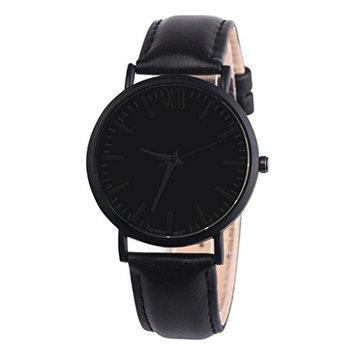 USHOT Men Leather Band Analog Quartz Round Wrist Watch Watches
