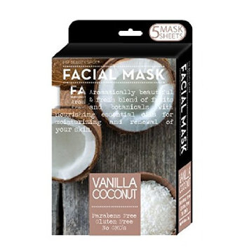 My Beauty Spot 5 Pack Moisturizing Facial Masks Infused with (Vanilla Coconut)