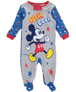 Fisher-price Mickey Mouse Baby Boys' 'Super Cool' Coverall - gray multi, 6 - 9 months