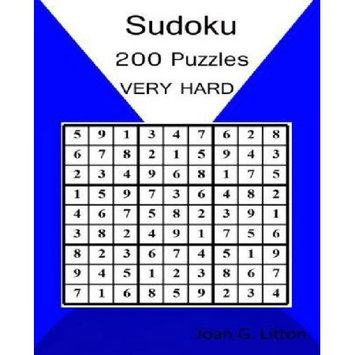 Createspace Publishing Sudoku Puzzles Book Levels: Very Hard 200 Challenging Puzzles (Children's Puzzle Books Logic and Brain Teasers difficulty Humor and Entertainment Calendars difficulty Games )