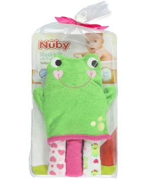 Nuby Froggy Bath Wash Mitt & 3 Washcloths