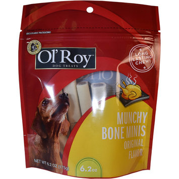 Ol' Roy Munchy Bone Mini's Original Flavor Bone Dog Treats, 6.2 Oz