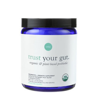 Ora Organic Trust Your Gut Probiotic with Prebiotics Powder, Apple Raspberry, 7.9 Oz