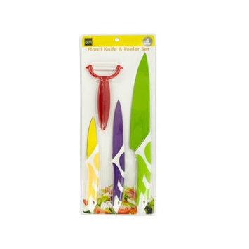 Colorful Knives & Vegetable Peeler Set